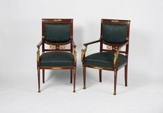 A Pair Of French 19th Century Empire Style Chairs