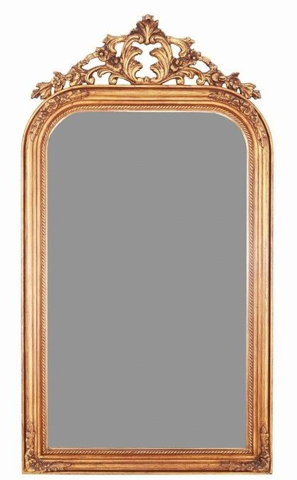 French Louis Philippe Archtop Style Mirror ca.1880