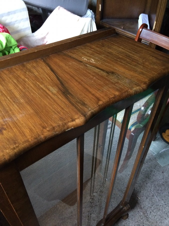 Antique Victorian Oak Display Cabinet