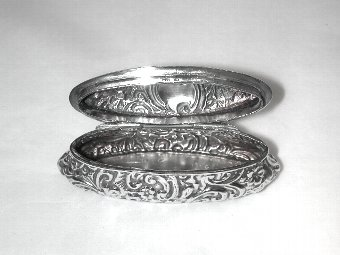 Antique Embossed Silver Trinket Box