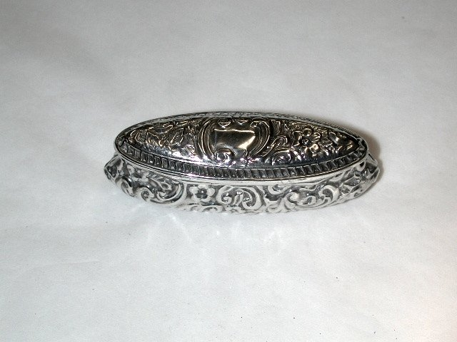 Embossed Silver Trinket Box