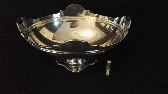 ANTIQUE LARGE HEAVY SOLID STERLING SILVER TABLE CENTREPIECE 26CM 644g