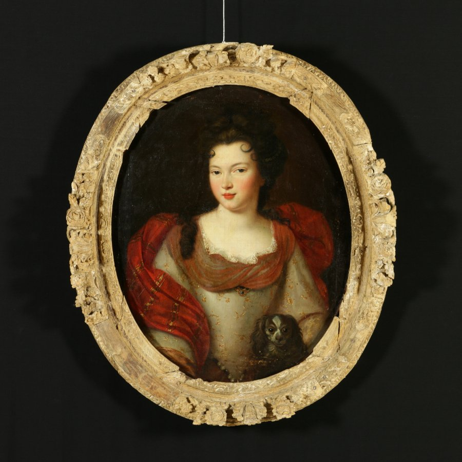 18th Century Oil Painting on Canvas Attributed to Jean-Baptiste Santerre