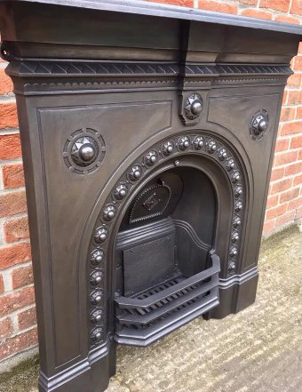 Antique Original Antique Victorian All In One Cast Iron Fireplace