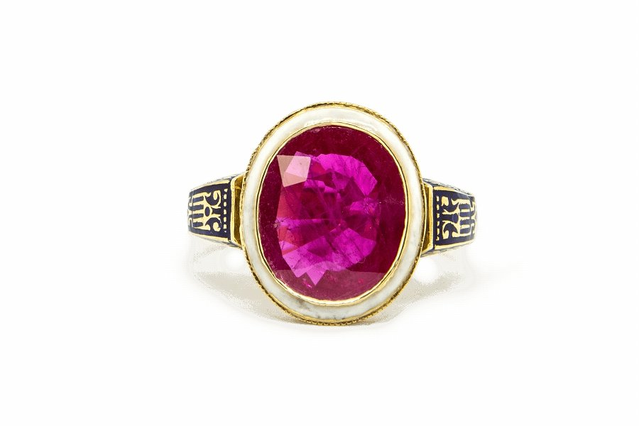 Ruby  Enamel Ring