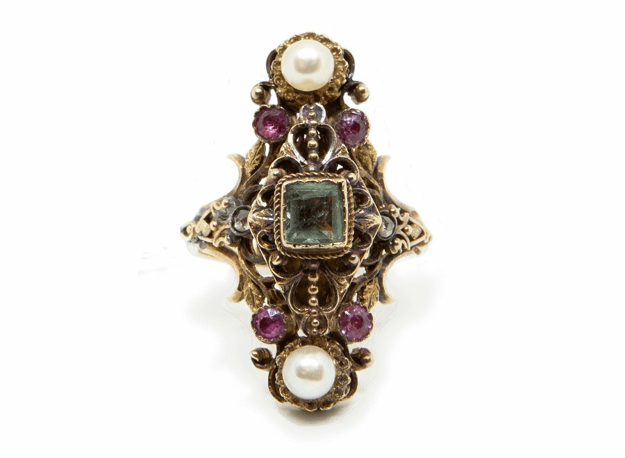 French 1880s Multi-Stones Ring