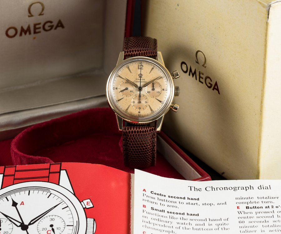 Rare Gents Omega 18k solid gold seamaster