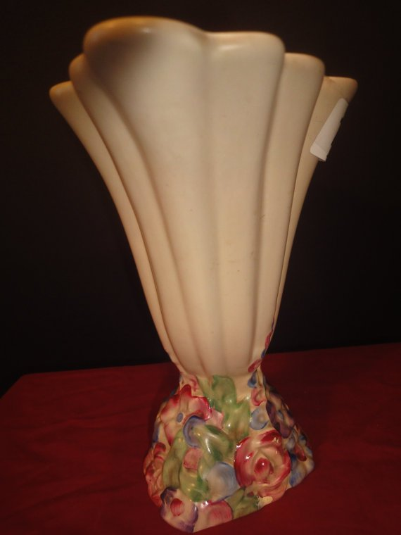 Antique Clarice Cliff vase decorated with flowers