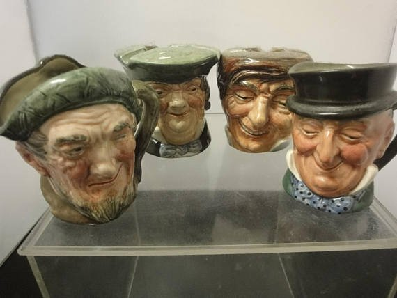 Antique Toby Jug Collection x 4pcs by Royal Doulton