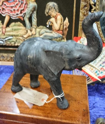 Antique Early 20th Century Leather Elephant