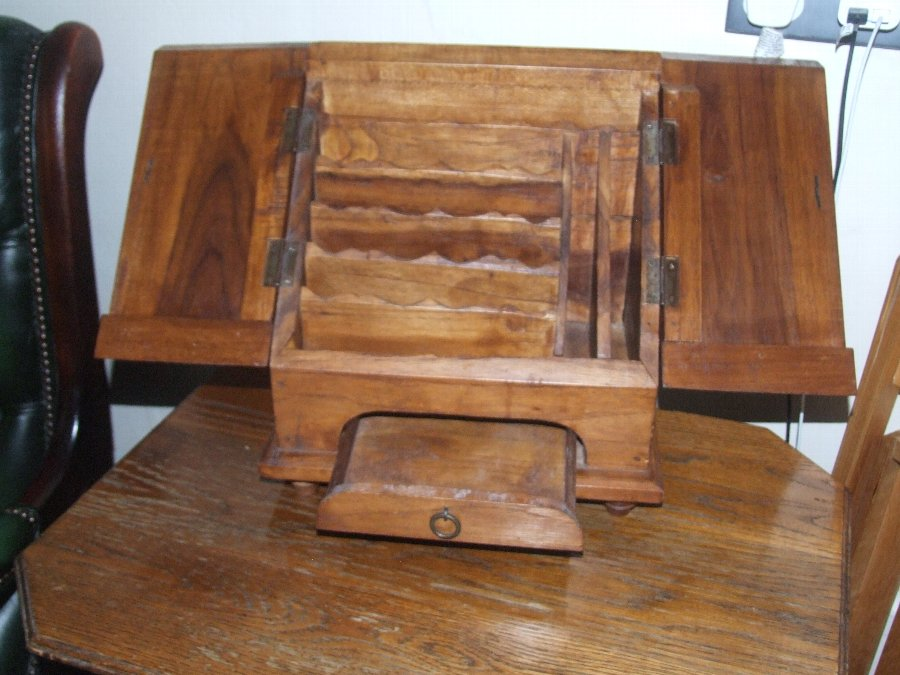 Antique Vintage Early 20th Century Rustic  Oak Stationary Cabinet