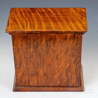 Antique #10023 Houghton & Gunn. A Small Edwardian Oak Table Top Key Cabinet