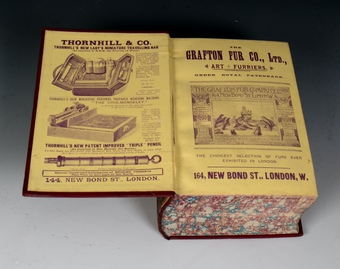 Antique #9675 W. Thornhill & Co. Oak Cased Set of Reference Directories dated 1895.