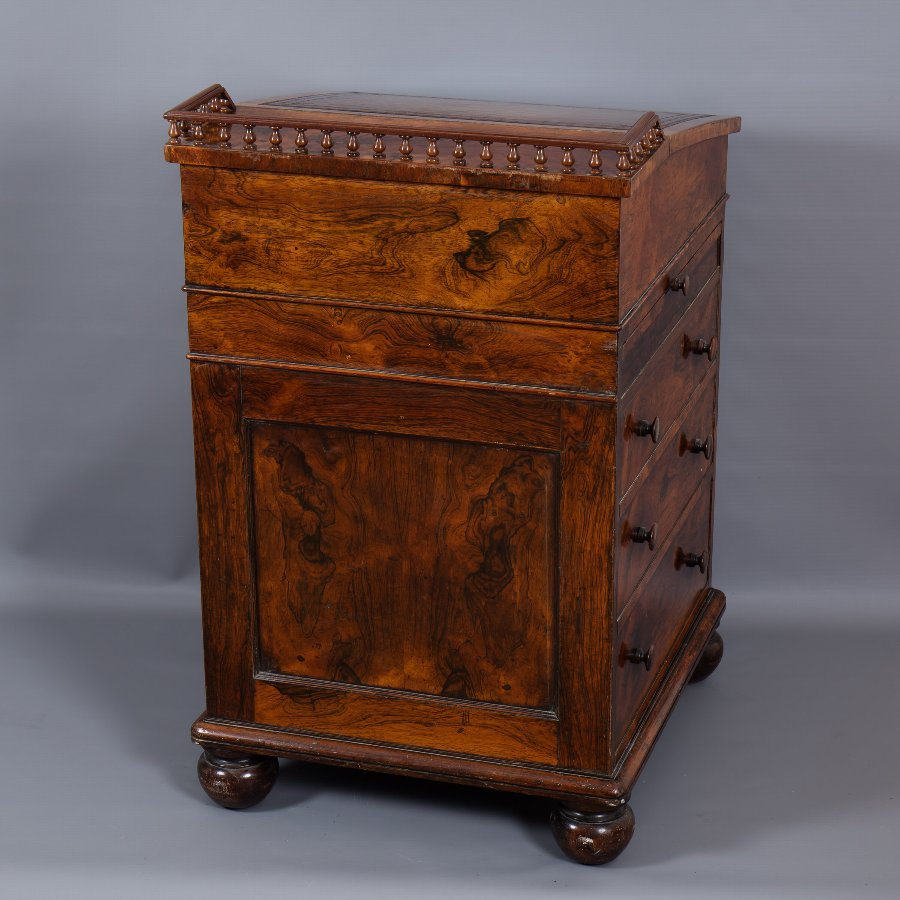 Antique #8003 A George IV Rosewood Davenport