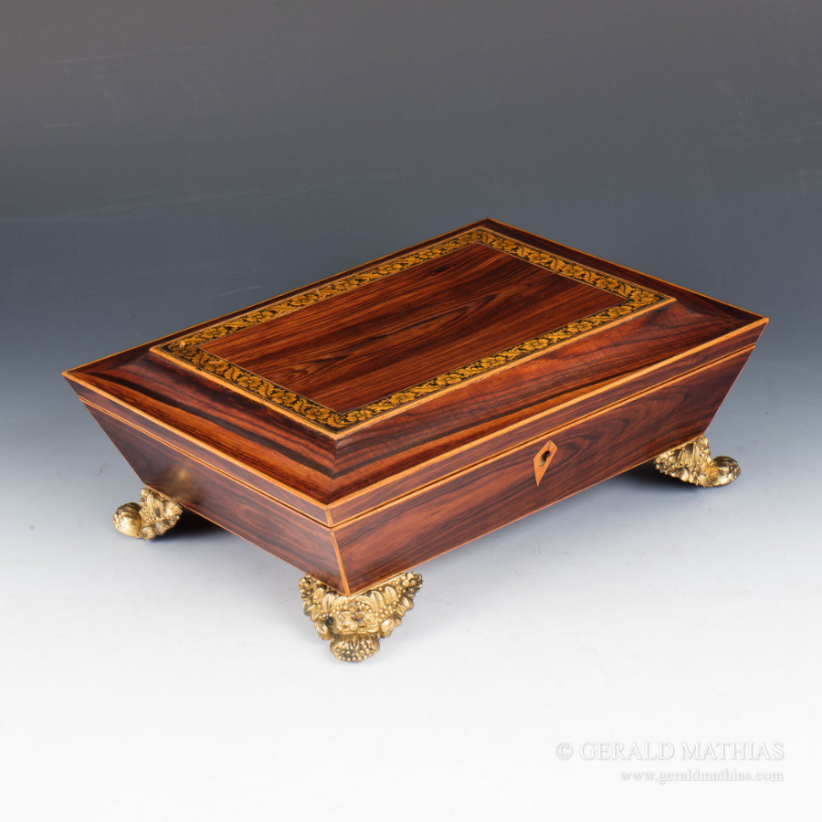 #9955 A Regency Kingwood Box