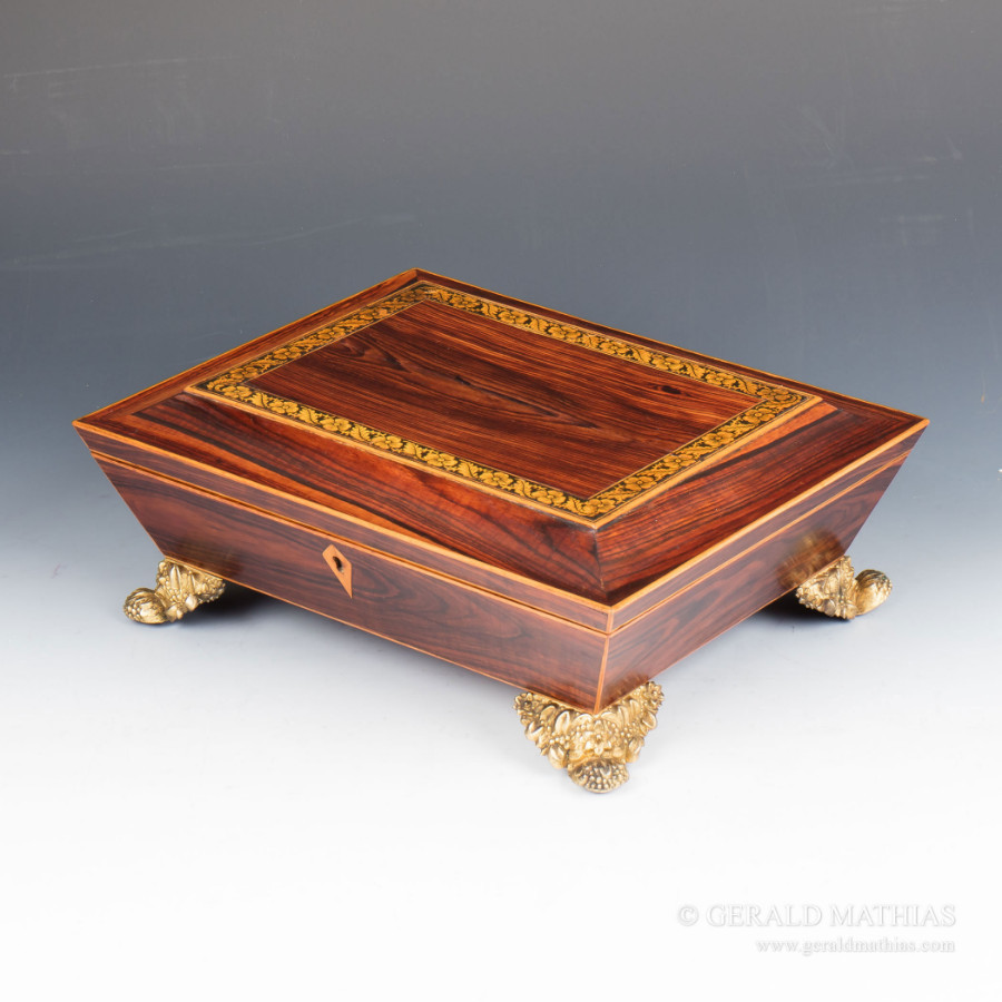 Antique #9955 A Regency Kingwood Box