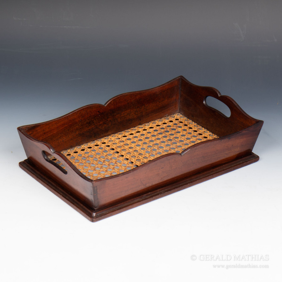 #9954 A Mid 19th Century Mahogany Filing Tray