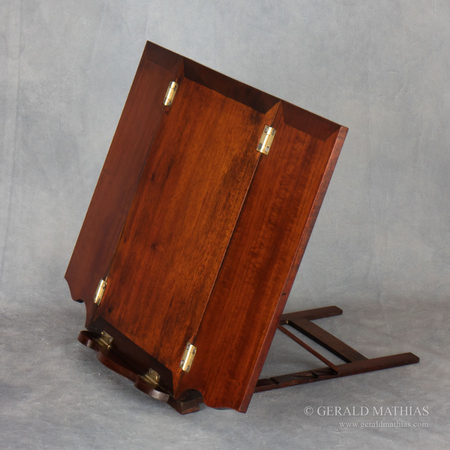 #9958 An Early 20th Century Mahogany Book Rest, Music or Reading Stand