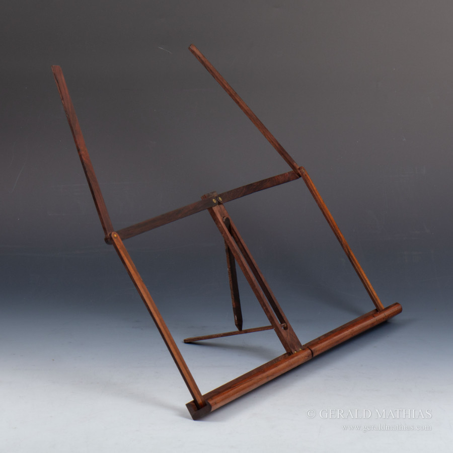 #9989 A Victorian Rosewood Folding Campaign Music Stand.  Ref: 9989