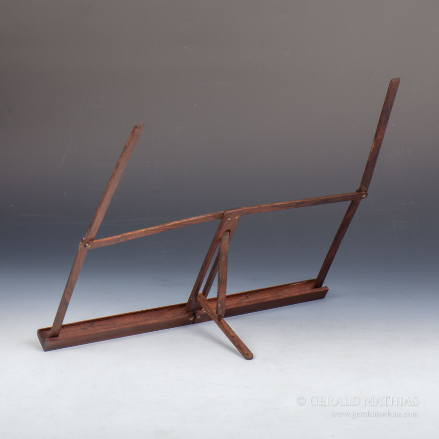 Antique #9989 A Victorian Rosewood Folding Campaign Music Stand.  Ref: 9989
