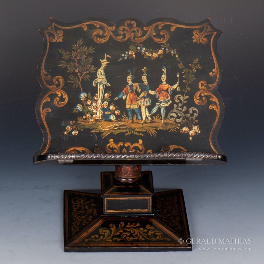 #9993 A Georgian Chinoiserie Music Stand