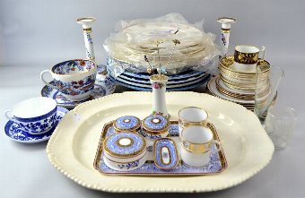 Antique Collection of decorative ceramics to include 19th century part teat set