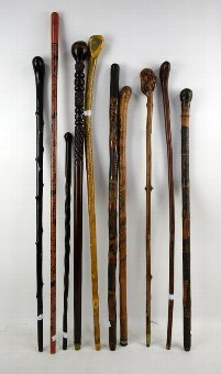 Antique Collection of walking sticks (10)