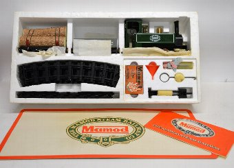 Antique Mamod steam railway set RS1 boxed The Momod steam railway