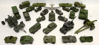 Antique A large quantity of predominantly Corgi and Dinky diecast military vehicles. (qty)