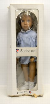 Antique Sasha doll - 107 blonde Gingham, in original box with leaflets