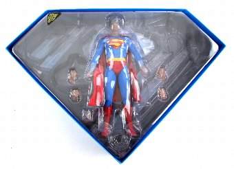 Antique Superman The Movie - Hot Toys 12 inch figure of Christopher Reeve, boxed.