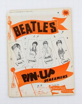 Antique The Beatles, Pin-Up Screamers, Gordon Currie Limited, 1964, unopened
