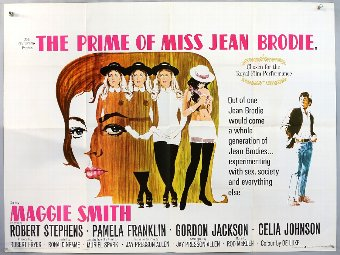 Antique The Prime of Miss Jean Brodie (1969) British Quad film poster, folded, 30 x 40 inches