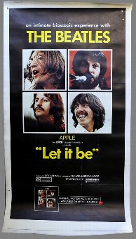 Antique The Beatles Let It Be (1970) Three Sheet film poster, linen backed, 41 x 81 inches