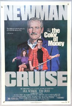 Antique The Color of Money (1986) One Sheet film poster, linen backed, 27 x 41 inches