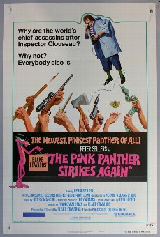 Antique Two The Pink Panther Strikes Again (1976) posters both Style-B US One Sheets, folded, 27 x 41 inches (2).