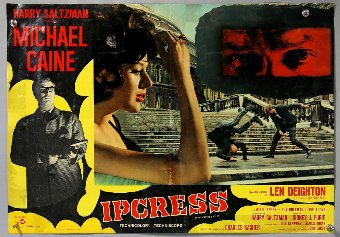Antique The Ipcress File (1965) Four Italian Photobustas, starring Michael Caine, single fold, 18 x 26 inches (4).