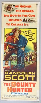 Antique Two US Insert film posters, Tarzan and The She-Devil & The Bounty Hunter, 14 x 36 inches (2).