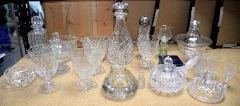 Antique Collection of 19th century and later glassware
