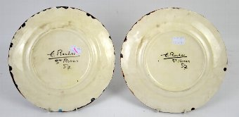 Antique E Rocher two plates