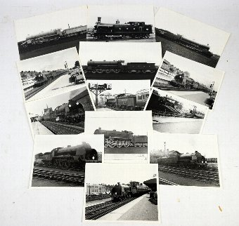 Antique Collection of Photographs of steam engines