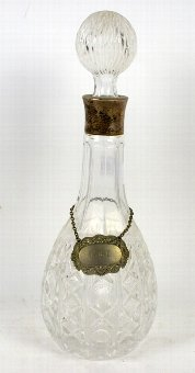 Antique Silver mounted cut glass decanter