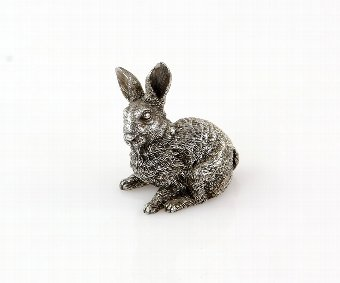 Antique Silver model/figure of a rabbit by Magrino with import marks