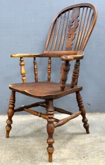 Antique Elm Windsor chair