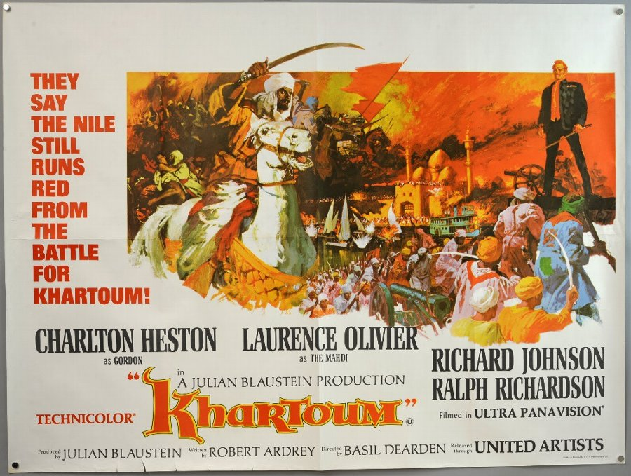 Antique 14 British Quad film posters for, Khartoum (1966 ...