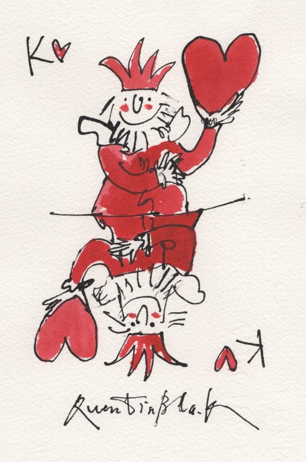 Sir Quentin Blake CBE FCSD FRSL RDI (b.1932). King of Hearts.