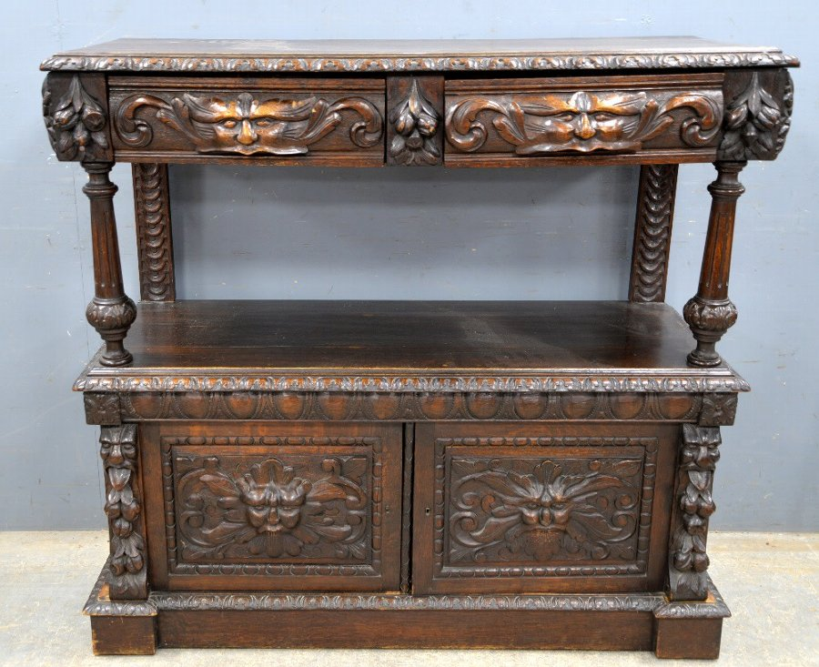Carved oak buffet