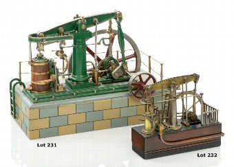 Antique A WORKING ENGINEER-TYPE MODEL OF A BEAM ENGINE OF 1820