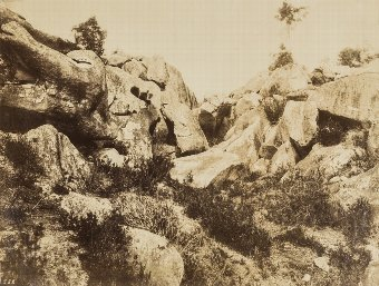 Antique Eugène Cuvelier (1837-1900) Sables de Macherin, Fontainebleau, early 1860s