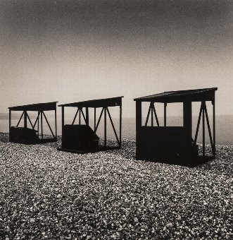 Antique Michael  Kenna (b.1953) Three Huts, Weymouth, Dorset, England, 1990